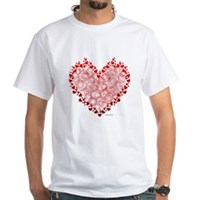 Heart Circles White T-Shirt