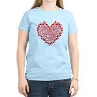 Heart Circles Women's Light T-Shirt