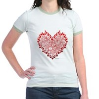 Heart Circles Jr. Ringer T-Shirt