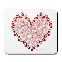 Heart Circles Mousepad