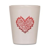 Heart Circles Shot Glass