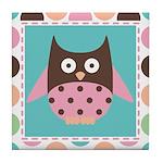 Owl Lover Mod Dot Tile Coaster
