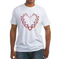 Heart Of Hearts Fitted T-Shirt