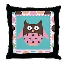 Owl Mod Dot Throw Pillow