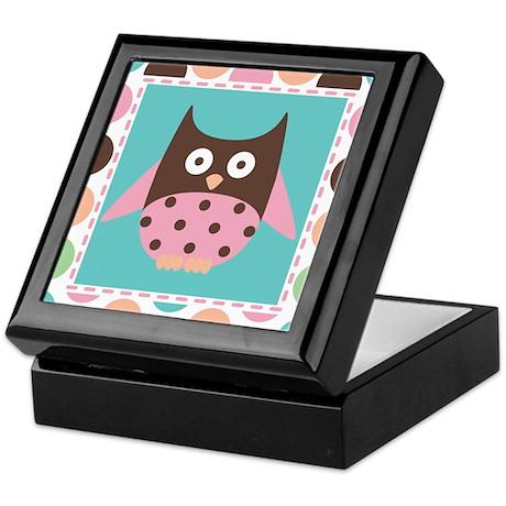 Owl Retro Dot Keepsake Box