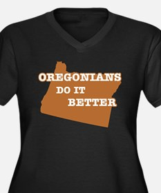 Oregonians Do It Better Women's Plus Size V-Neck D