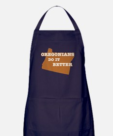 Oregonians Do It Better Apron (dark)