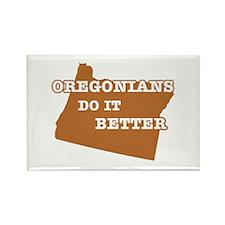 Oregonians Do It Better Rectangle Magnet (10 pack)