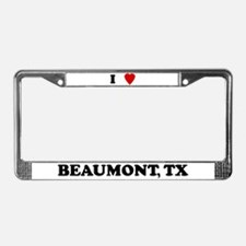 I Love Beaumont License Plate Frame