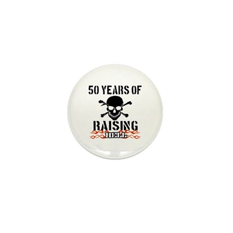 50 years of raising hell Mini Button (10 pack)
