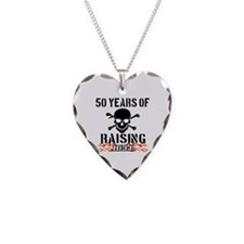 50 years of raising hell Necklace Heart Charm
