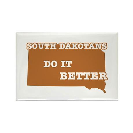 South Dakotans Do It Better Rectangle Magnet (10 p