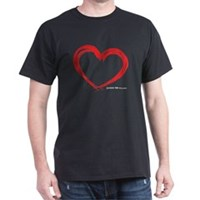 Heart Lines Dark T-Shirt