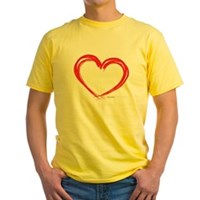 Heart Lines Yellow T-Shirt
