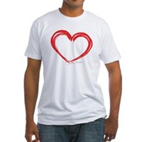 Heart Lines Fitted T-Shirt