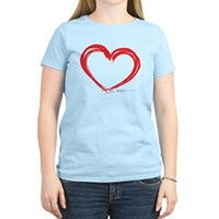 Heart Lines Women's Light T-Shirt