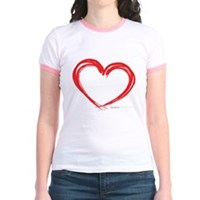 Heart Lines Jr. Ringer T-Shirt