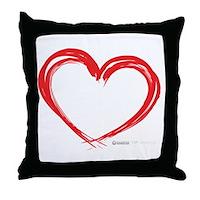 Heart Lines Throw Pillow