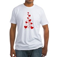 Heart Tree Fitted T-Shirt