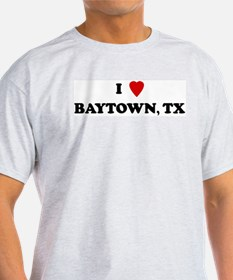 I Love Baytown Ash Grey T-Shirt