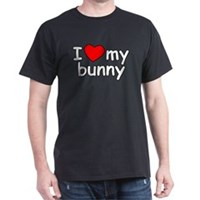 I Love My Bunny Dark T-Shirt
