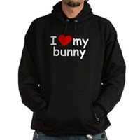 I Love My Bunny Hoodie (dark)