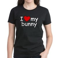 I Love My Bunny Women's Dark T-Shirt