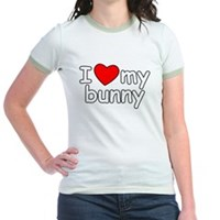 I Love My Bunny Jr. Ringer T-Shirt