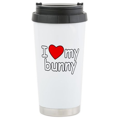 I Love My Bunny Stainless Steel Travel Mug