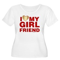 I Love My Girlfriend Women's Plus Size Scoop Neck