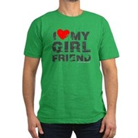 Vintage I Love My Girlfriend Men's Fitted T-Shirt