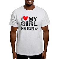 Vintage I Love My Girlfriend Light T-Shirt