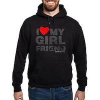 Vintage I Love My Girlfriend Hoodie (dark)