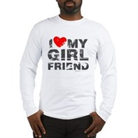 Vintage I Love My Girlfriend Long Sleeve T-Shirt