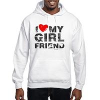 Vintage I Love My Girlfriend Hooded Sweatshirt