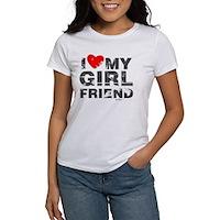 Vintage I Love My Girlfriend Women's T-Shirt