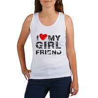 Vintage I Love My Girlfriend Women's Tank Top