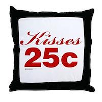 Kisses 25c Throw Pillow