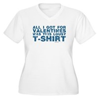 Lousy Valentines Day T-Shirt Women's Plus Size V-N