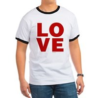 Red Love Ringer T
