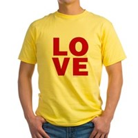Red Love Yellow T-Shirt