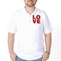Red Love Golf Shirt