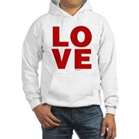 Red Love Hooded Sweatshirt