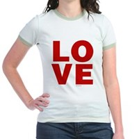 Red Love Jr. Ringer T-Shirt