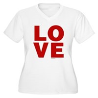 Red Love Women's Plus Size V-Neck T-Shirt