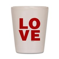 Red Love Shot Glass