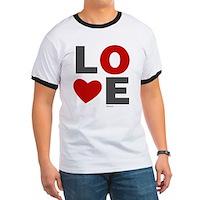 Love Heart Ringer T