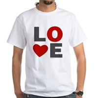 Love Heart White T-Shirt