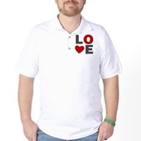 Love Heart Golf Shirt