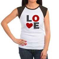Love Heart Women's Cap Sleeve T-Shirt